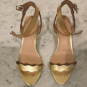 loeffler Randall Emi City Sandals- Gold sz 8